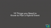 10 Things you Need to Know to Plan a Hybrid Event