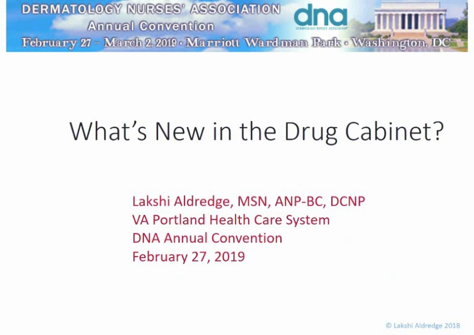 What's New in the Drug Cabinet?