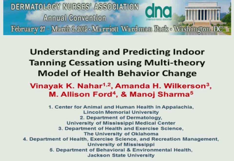 Understanding and Predicting Indoor Tanning Cessation Using Multi-Theory Model of Behavior Change