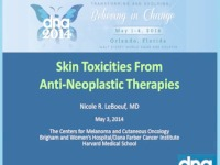 Skin Toxicities from Anti-Neoplastic Therapy
