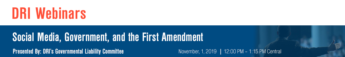 Social Media, Government, and the First Amendment