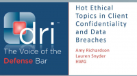 Hot Ethical Topics in Client Confidentiality and Data Breaches