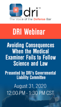 Avoiding Consequences When the Medical Examiner Fails to Follow Science and Law