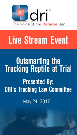 Outsmarting the Trucking Reptile at Trial - Non-Member Package