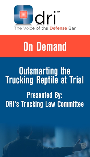 Outsmarting the Trucking Reptile at Trial - FULL SEMINAR or INDIVIDUAL SESSIONS ON SALE!!