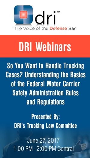 So You Want to Handle Trucking Cases? Understanding the Basics of the Federal Motor Carrier Safety Administration Rules and Regulations - Non-Member Package