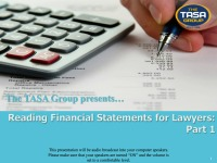 Reading Financial Statements for Lawyers (Part 1)