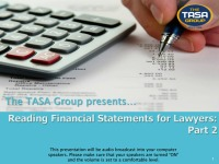 Reading Financial Statements for Lawyers (Part 2)