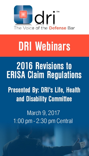 2016 Revisions to ERISA Claim Regulations - Event Non-Member Package