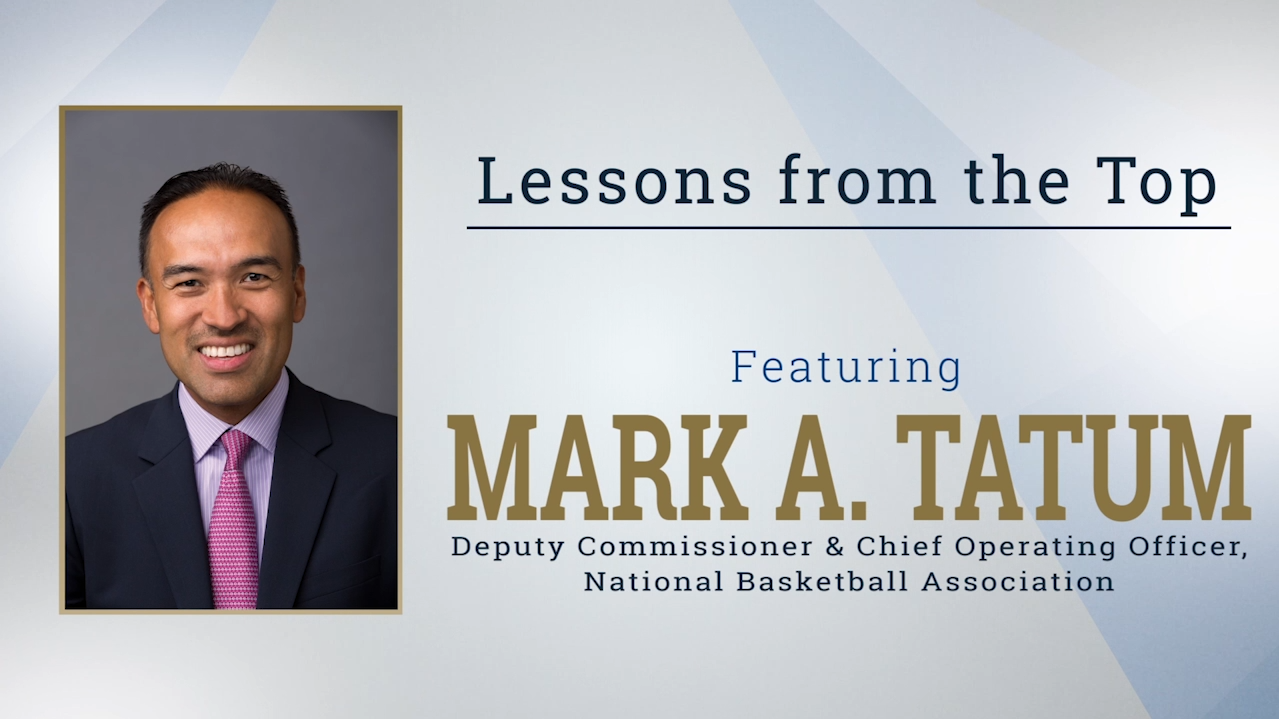 Lessons from the Top Featuring Mark A. Tatum