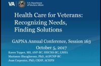 Health Care for Veterans: Recognizing Needs and Finding Solutions
