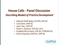 House Calls - Panel Discussion Describing Models of Practice Development
