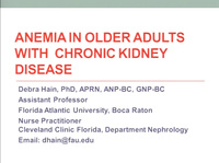 Anemia Management in Older Adults with CKD Stage 3-5