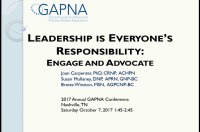 Leadership Is Everyone's Responsibility: Engage and Advocate