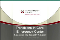 Transitions in Care: Emergency Room