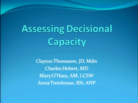 Assessing Decisional Capacity