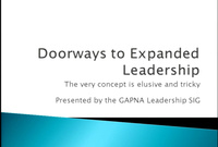 Doorways to Expanded Leadership