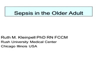 Sepsis in the Older Adult