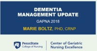 Dementia Management Update