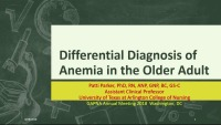Differential Diagnosis of Anemia in the Older Adult