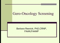 Gero-Oncology Screening