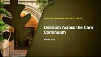Delirium Across the Care Continuum