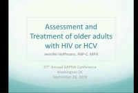 Assessment and Treatment of Older Adults with HIV or HCV