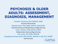 Psychosis and Older Adults: Assessment, Diagnosis, and Management