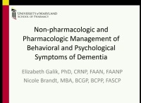 Non-Pharmacologic and Pharmacologic Management of Behavioral and Psychological Symptoms of Dementia in Long-Term Care