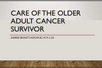 Care of the Older Adult Cancer Survivor