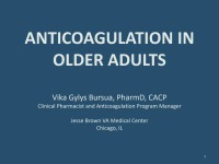 Anticoagulation in Older Adults