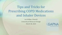 Tips and Tricks for Prescribing COPD Medications and Inhaler Devices