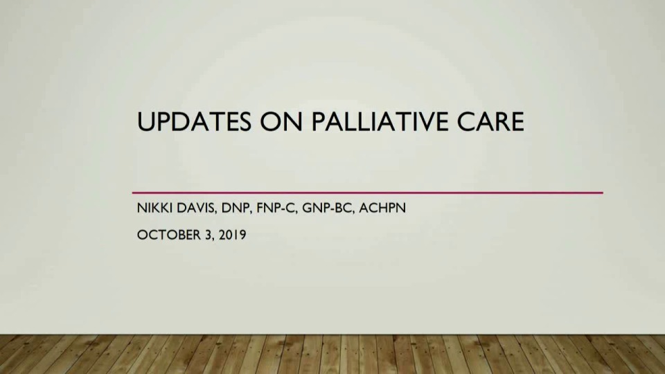 Palliative Care Guidelines Update