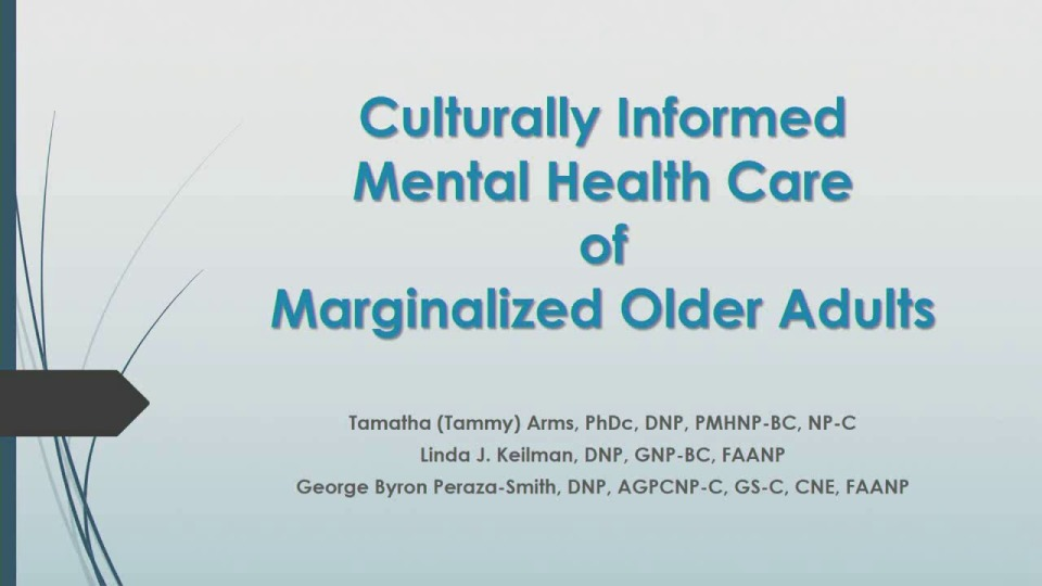 Culturally Informed Mental Health Care of Marginalized Older Adults