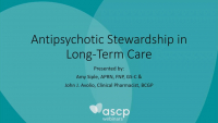 Antipsychotic Stewardship in Long-Term Care