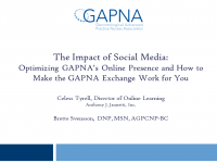The Impact of Social Media: Optimizing GAPNA's Online Presence and How to Make the GAPNA exchange Work for You