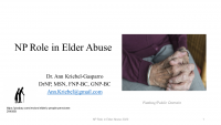 The NP Role in Elder Abuse