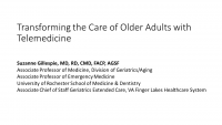 Transforming the Care of Older Adults with Telemedicine