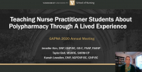 Teaching Nurse Practitioner Students About Polypharmacy Through A Lived Experience