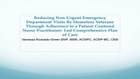 Reducing Non-Urgent Emergency Department Visits of Homeless Veterans through Adherence to a Nurse Practitioner-Led Comprehensive Plan of Care