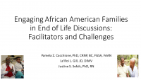 Engaging African-American Families in End-of-Life Discussions: Challenges and Facilitators