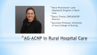 Nurse Practitioner Role in Critical Access Hospital and Hospitalists Services