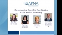 Gerontological Specialist Certification Exam Review Workshop:  Palliative, Hospice, End of Life and Using a Systems Based Approach