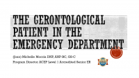 The Gerontological Patient in the Emergency Department