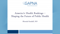 America's Health Rankings – Shaping the Future of Public Health
