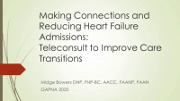 Making Connections and Reducing Heart Failure Readmissions: Teleconsult to Improve Care Transitions