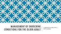 Endocrine Management in Older Patients