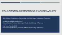 Conscientious Prescribing in Older Adults