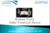 Financial Abuse in the Elderly