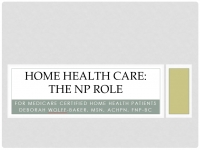 CPO Toolkit - Home Health Care: The NP Role